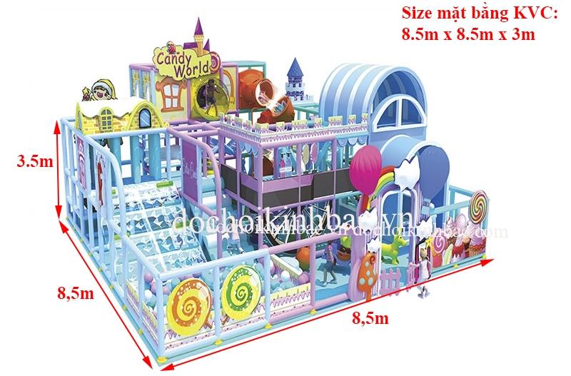 Khu vui chơi liên hoàn chủ đề lâu đài NLHD028