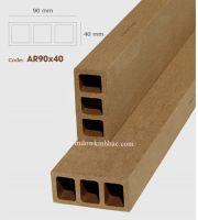 TRỤ CỘT GỖ NHỰA  P90x40 Wood TCGN23