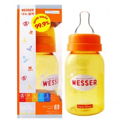 Bình sữa Wesser + Núm 120ml