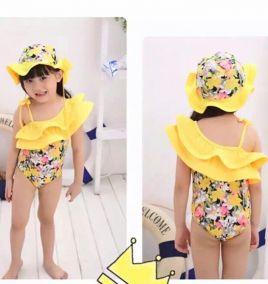 Bộ bơi hoa kèm nón