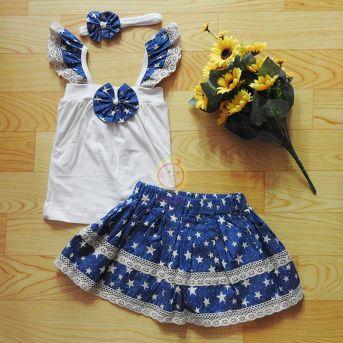 Bộ váy thiết kế jean ngôi sao