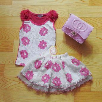 Bộ thiết kế áo váy thêu hoa