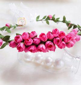 Vòng hoa cài tóc li ti cực xinh