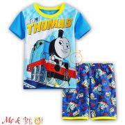 Đồ bộ bé trai tay ngắn in hình 3D Thomas (size lớn)