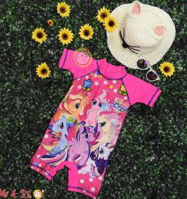 Đồ bơi hình ngựa Pony hồng cho bé gái