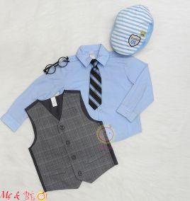 Đồ vest kèm cà vạt cho bé trai