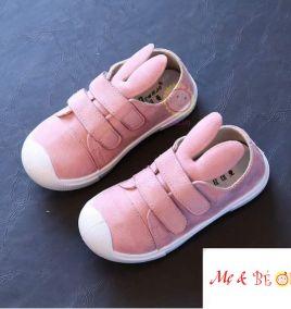 Giày bata tai thỏ màu hồng