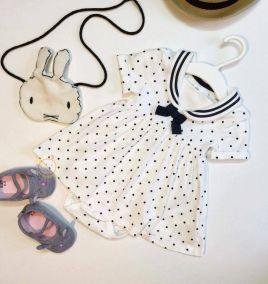 Set body suit chấm bi kèm giày cho bé gái