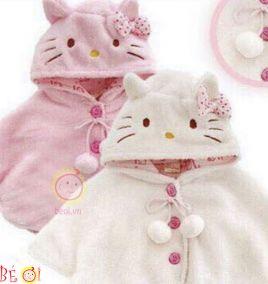 Áo choàng kitty cực  xinh cho bé gái