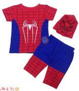 Bộ người nhện kèm mặc nạ thêu cho bé trai