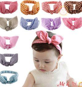 Băng đô turban cực xinh cho bé gái