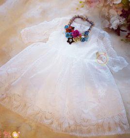 Đầm ren dự tiệc tay dài cho bé gái ( size lớn)