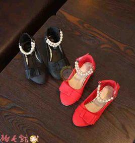 Giày búp bê đính hột ngọc trai cho bé gái ( size lớn)