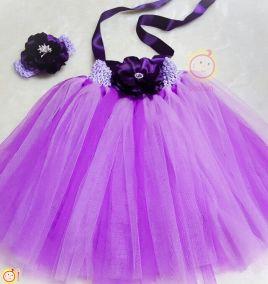 Đầm công chúa cao cấp kèm băng đô cho bé gái