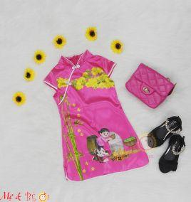 Đầm sườn xám cho bé gái( size lớn)