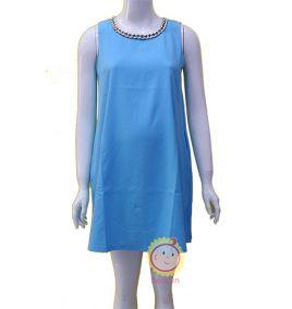 Đầm suông sát nách màu xanh ngọc