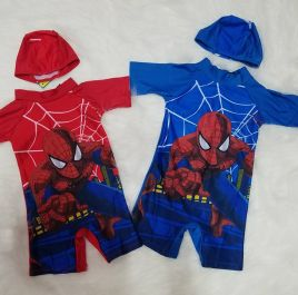 Đồ bơi liền bé trai kèm nón in hình người nhện