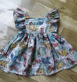 Đầm tay cánh bướm cho bé gái