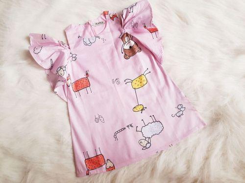 Đầm suông trễ vai cho bé gái ( size lớn )