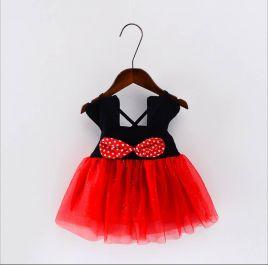 Đầm nhí Mickey 2 dây cho bé gái