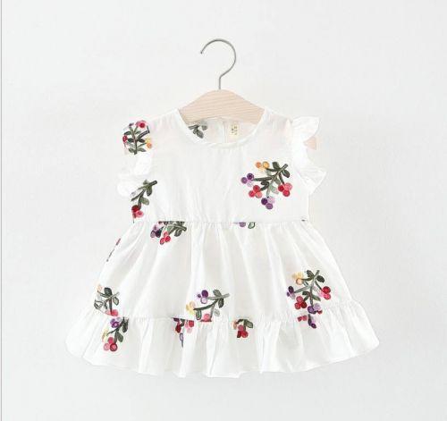 Đầm xô thêu hoa tay bèo