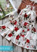 Đầm yếm hoa maxi cho bé gái