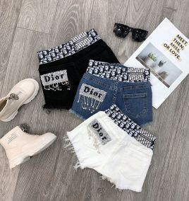 Quần short jean Dior cho bé gái