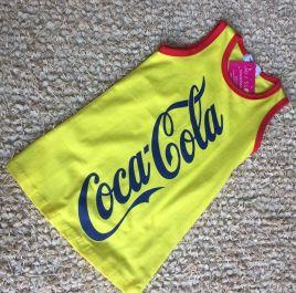 Đầm thun suông in chữ coca