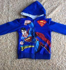 Áo khoác thun nhí superman cho bé trai