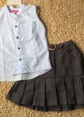 Set thiết kế áo xanh sọc váy xám( nhí)