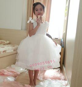 Đầm xòe công chúa cho bé gái ( size 5-8)