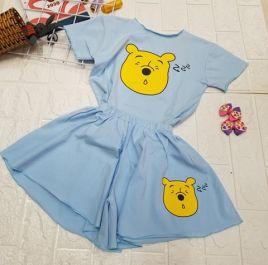 đồ bộ quần giả váy cute bé gái( đại)