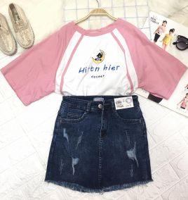 Váy jean bé gái ( size đại )