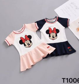 Đầm thun nhí Mickey bé gái