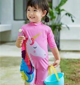 Đồ bơi liền thân bé gái họa tiết hoạt hình siêu đáng yêu