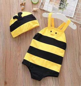 Đồ bơi con ong bé gái_đồ bơi bé gái kèm nón