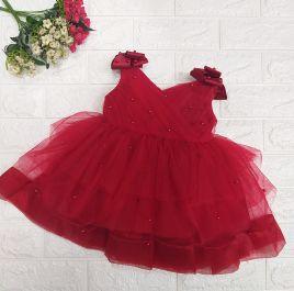 Đầm công chúa đính hạt hàng thiết kế cho bé