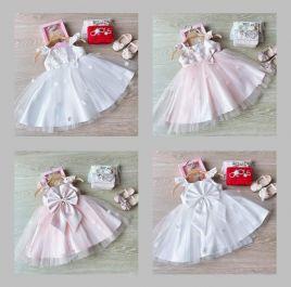 Đầm công chúa đính bông dáng xòe cho bé hàng thiết kế