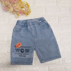 Quần jean bé trai quần sooc trẻ em quần đùi jean bé trai