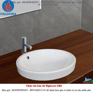 Chậu rửa bàn đá Viglacera CD6_8