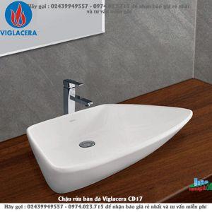 Chậu rửa bàn đá Viglacera CD17