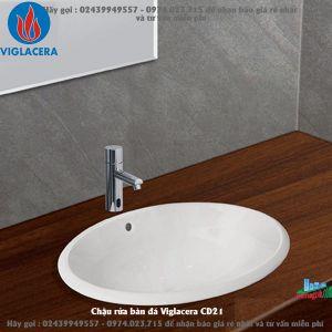 Chậu rửa bàn đá Viglacera CD21