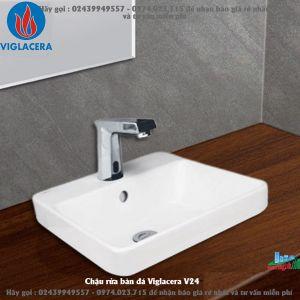Chậu rửa bàn đá Viglacera V24