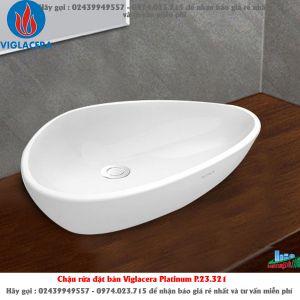 Chậu rửa đặt bàn Viglacera Platinum P.23.321