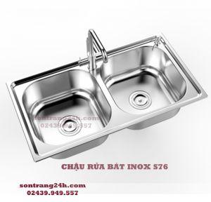 Chậu rửa bát inox Sơn Hà S76