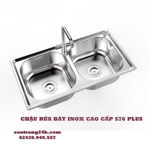 Chậu rửa bát inox Sơn Hà S76 PLUS