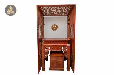 Ban thờ đục thủng gỗ Hương 107x67x127