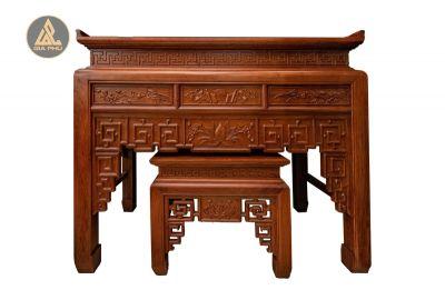 Ban thờ Sen hạ nền gỗ hương 176x87x127