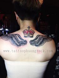 hình xăm cánh thiên thần