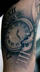 hình xăm đồng hồ  2